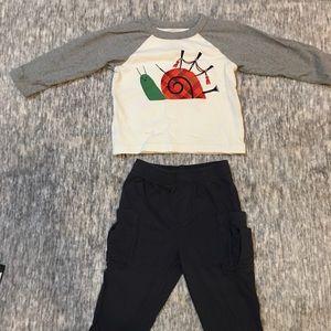 Tea Boys Matching Pants & Shirt! EUC! 12-18 months